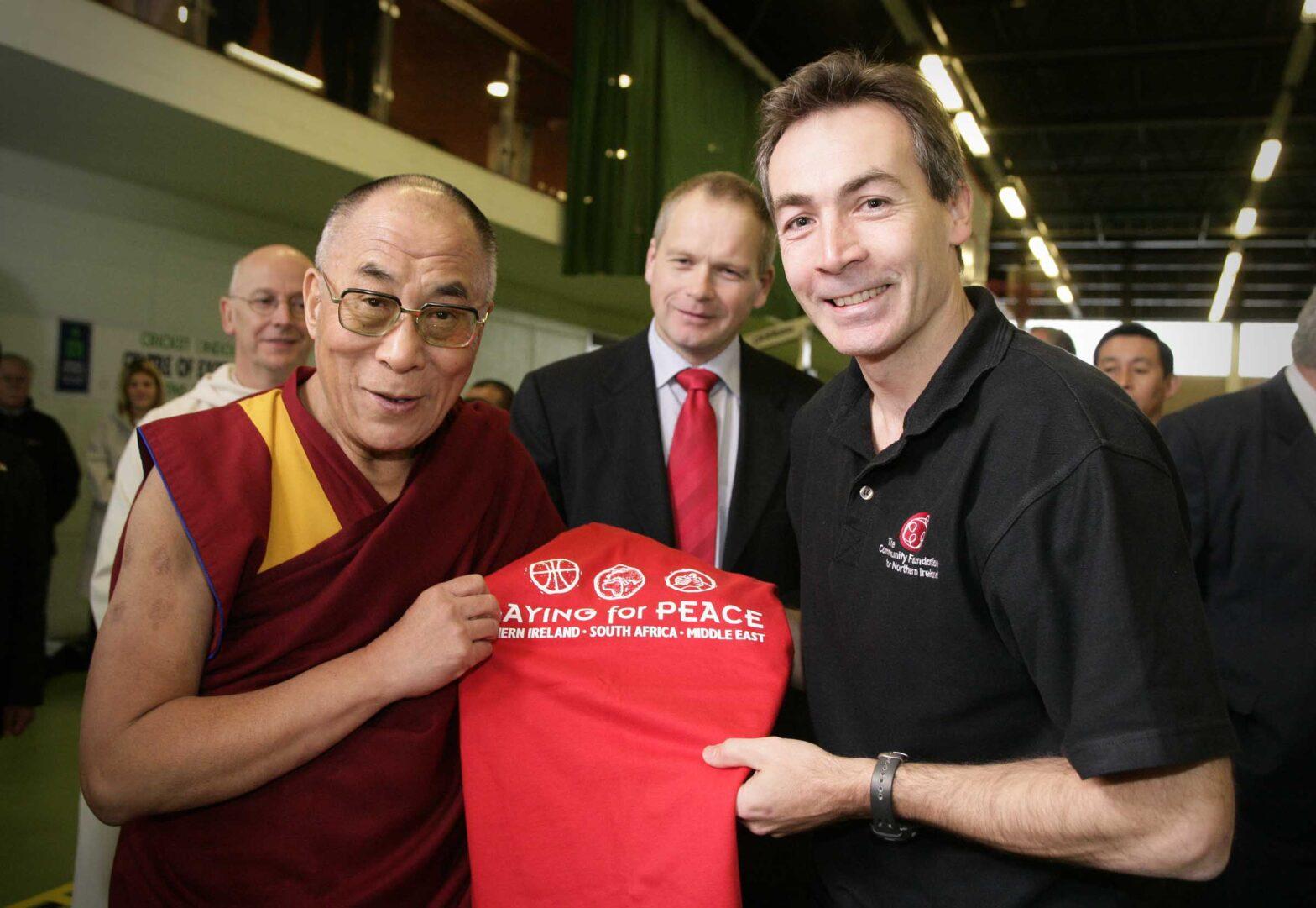 050122 Dalai Lama & Trevor Ringland & James Magowan